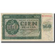Billet, Espagne, 100 Pesetas, 1936, 1936-11-21, KM:101a, TB - [ 3] 1936-1975 : Regime Di Franco