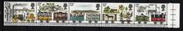 GROSSBRITANNIEN - Mi-Nr. 830 - 834 Fünferstreifen 150 Jahre Eisenbahnlinie Liverpool-Manchester Postfrisch - 1952-.... (Elisabeth II.)