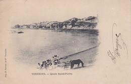 [47] Lot Et Garonne > Tonneins Quais St Pierre  Avec Lavandières Carte Nuage Precurseur - Tonneins