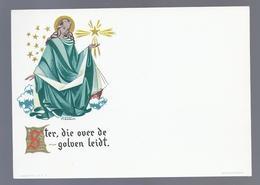 GOLDPRINT HOLY MOTHER ILLUSTR. M. AMSENS MARIA STER DIE OVER DE GOLVEN LEIDT - Images Religieuses