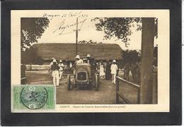 CPA Poste Et Facteur Kandy Courrier Voiture Postale Dahomey Circulé - Postal Services
