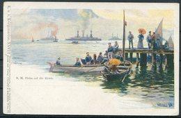 Austria S.M. Flotte Auf Der Rhede Postcard. K.u.K Kriegsmarine, Philipp & Kramer - War 1914-18