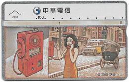 Taiwan - Chunghwa Telecom - L&G - Telephone History 2/4 - 775B - 1997, 100U, Used - Taiwan (Formosa)