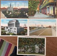 5 CPA, New Orleans (2, Jackson Sq, Pirate's Alley) Et Shreveport (3, Viaduct, Caddo Parish Court House,Shrine Hospital ) - Etats-Unis