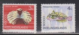 COCOS (KEELING) ISLANDS Scott # 10-11 MNH - Fish - Cocos (Keeling) Islands