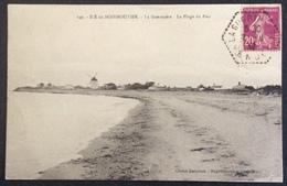 CPA41 Île De Noirmoutier Vendée Cachet HEXAGONAL La Guérinière 7/8/1932 Semeuse 20c Carte La Plage Du Fier - Postmark Collection (Covers)
