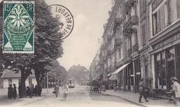 90. BELFORT .CPA . L' AVENUE WILSON. ANIMATION . AFFRANCHIE ANNÉE 1925 - Belfort - City