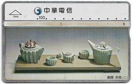 Taiwan - Chunghwa Telecom - L&G - Tea Set 2 - 694M - 1997, 100U, Used - Taiwan (Formosa)