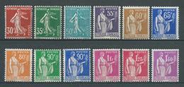 FRANCE 1937/39 . Série N°s 360 à 371 . Neufs ** (MNH) - France