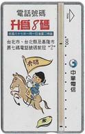 Taiwan - Chunghwa Telecom - L&G - To Be Added 8 Digits - 770H - 1997, 100U, Used - Taiwan (Formosa)