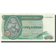 Billet, Zaïre, 5 Zaïres, 1977, 1977-11-24, KM:21b, SUP - Zaïre