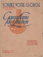 PROTEGE-CAHIER  GARGARISME DE LUCHON  SAUBA  SIROP DE V. BATTUT - Produits Pharmaceutiques
