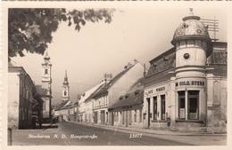 STOCKERAU (Niederdonau) - Hauptstrasse, Cafe Wimmer, Fotokarte Verlag HDH, Um 1935 - Stockerau