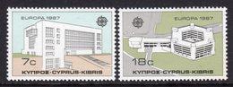 CYPRUS - 1987 EUROPA MODERN ARCHITECTURE SET (2V) FINE MNH ** SG 704-705 - Unused Stamps