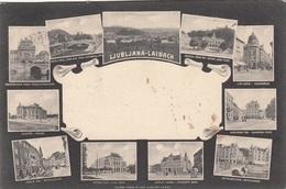 LJUBLIANA-LAIBACH (Österreich-Slowenien) - Sehr Schöne Seltene Mehrbilderkarte, Gel.1906, Etwas Fleckig S.Bilder ... - Slowenien