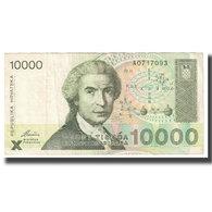 Billet, Croatie, 10,000 Dinara, 1992, 1992-01-15, KM:25a, TTB - Pologne