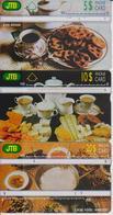 #09 - BRUNEI-01 - SET OF 3 CARDS - FOOD - Brunei