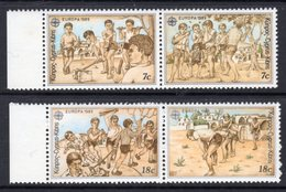 CYPRUS - 1989 EUROPA CHILDRENS GAMES SET (4V) FINE MNH ** SG 740a, 742a - Unused Stamps