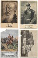 Lot De 4 Cartes Militaires Allemandes En Mauvais état   - Cachet Du R. Des Gardes Du Corps  - WWI - Weltkrieg 1914-18
