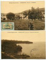LOT 2 Cartes - CAMEROUN DOUALA L'Hôpital & Crique Du Docteur - Sépia Ecrites En 1925 - Excellent état - Cameroun