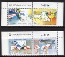 CYPRUS - 1988 EUROPA TRANSPORT & COMMUNICATIONS SET (4V) FINE MNH ** SG 718-721 - Unused Stamps