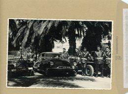 Photo  Originale  , L'escorte Militaire Du Général  MAURICE CHALLE .  DS CITROEN  . POLICE MILITAIRE  . CHAUFFEUR - War, Military