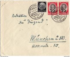 ALLEMAGNE REICH YT N°501 PAIRE OBLITEREE SUR LETTRE - Allemagne