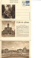 Carte Lettre Yvert N° 14/5  Année 1938  Neuve, Cote 32,50 Euros, Melun, Compiègne, Versailles - Entiers Postaux
