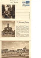 Carte Lettre Yvert N° 14/5  Année 1938  Neuve, Cote 32,50 Euros, Melun, Compiègne, Versailles - Postal Stamped Stationery