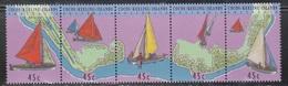 COCOS (KEELING) ISLANDS Scott # 292 A-e MNH - Junkongs Sailing Craft - Cocos (Keeling) Islands