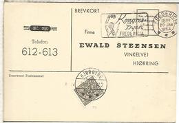 DINAMARCA FREDERICIA 1954 KONGRESS BYEN   TASADA EN HJoRRING - Covers & Documents