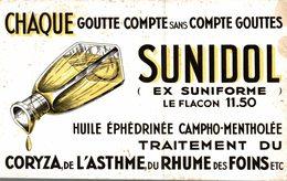BUVARD  CHAQUE GOUTTE COMPTE SANS COMPTE GOUTTES  SUNIDOL CORYZA ASTHME... - Farm