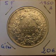 5 Francs 1850 A Cérès - France