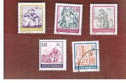 JUGOSLAVIA (YUGOSLAVIA)   - SG 2927.2933  -    1994  CHURCHES  -  USED - 1992-2003 République Fédérale De Yougoslavie