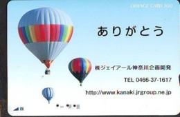 Carte Prepayee JAPON * (1856 ) BALLON * MONTGOLFIERE  Hot Air Balloon * Aerostato * Heißluft Prepaid CARD JAPAN - - Sport