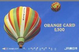 Carte Prepayee JAPON * (1864) BALLON * MONTGOLFIERE - Hot Air Balloon * Aerostato * Heißluft Prepaid CARD JAPAN - - Sport