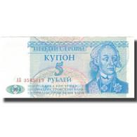 Billet, Transnistrie, 5 Rublei, 1994, 1994, KM:17, SPL+ - Russie