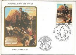 LIBERIA 1979 FDC SCOUT - Movimiento Scout