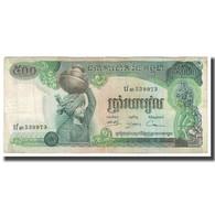 Billet, Cambodge, 500 Riels, KM:16b, TTB - Cambodia