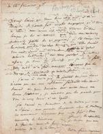 Lettre Du Conventionnel E. FERROUX (1751-1834) à Son Frère, Directeur Des Contributions Directes à Lons Le Saunier. - Documents Historiques