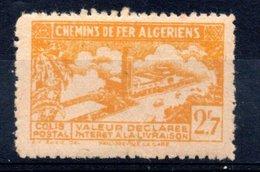 Algérie Colis Postaux 1943 N°113 Neuf Avec Charnière Sans Contrôle Des Recettes - Colis Postaux