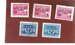 JUGOSLAVIA (YUGOSLAVIA)   -   1947 YUGOSLAV MILITARY ADMINISTRATION  (5 OVERPRINTED STAMPS)  -  USED - Usati