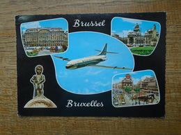 """Belgique , Bruxelles , Multi-vues """""""" Belle Paire De Timbres Europa - Panoramische Zichten, Meerdere Zichten"""