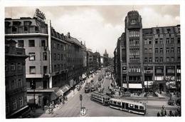 1935? PRAG - Graben Strassenbahn, Fotokarte - Tschechische Republik