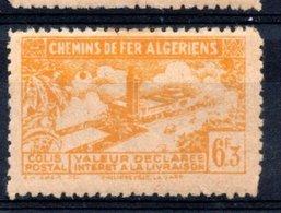 Algérie Colis Postaux 1943 N°114 Neuf Avec Charnière Sans Contrôle Des Recettes - Parcel Post