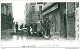 INONDATIONS CRUE  - AUTOUR DE LA PLACE MAUBERT - Bb-38 - Paris Flood, 1910