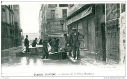 INONDATIONS CRUE  - AUTOUR DE LA PLACE MAUBERT - Bb-38 - Inondations De 1910
