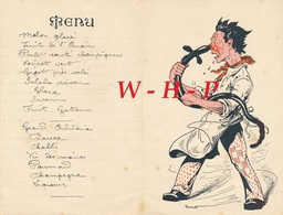 Menu Ancien Illustré Par Bouisset   - 10 Août 1938 - Menu