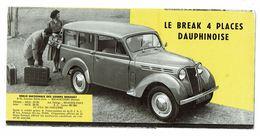 RENAULT La Dauphinoise Dauphine Break Plaquette Publicitaire Descriptive - Voitures