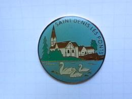 Pin S De SAINT DENIS LES PONTS  28 Eure Et Loir Cygne Eglise - Steden